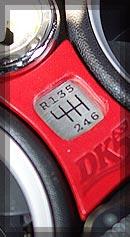 BMW MINI シフトパターン カラー:レッド